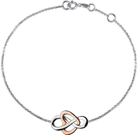 Fate Jewellery Armband FJ581 - Infinity Heart - 925 Zilver, Rosé verguld - Hartje Valentinaa