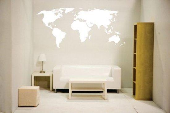 Wereldkaart muurdecoratie  wanddecoratie  wereldkaarten  woonkamer ...