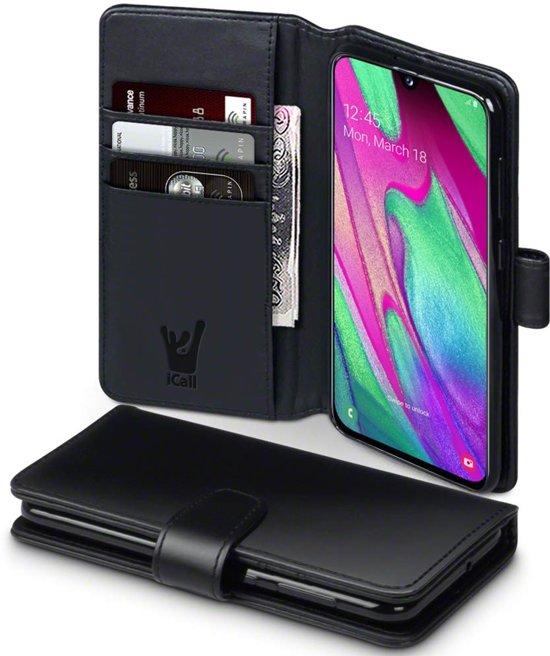 Samsung Galaxy A40 Hoesje - Book Case Portemonnee - iCall - Zwart