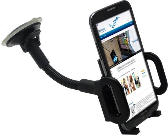 Universele handige Telefoonhouder voor in de auto, kwaliteits-houder, zwart , merk i12Cover