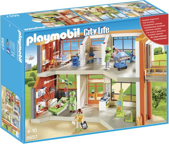 PLAYMOBIL Compleet ingericht kinderziekenhuis - 6657