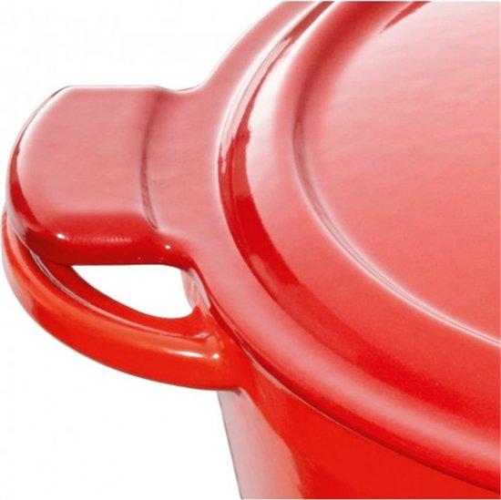 Fontignac ovale Stoof/Braadpan 29 cm Rood