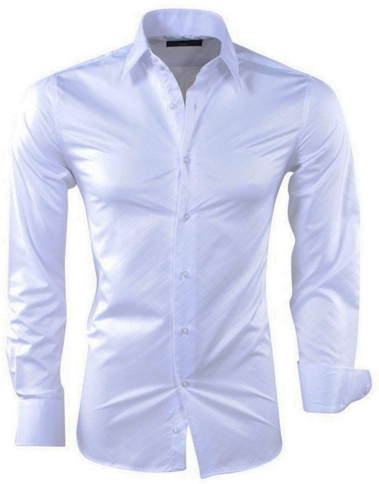 Heren Overhemd Wit.Bol Com Montazinni Heren Overhemd Geruit Kreuk En Strijkvrij