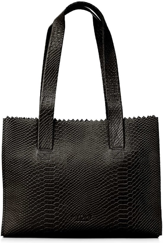 Myomy Mon Sac De Papier Shopper Sac À Main Noir Anaconda ExVuXu