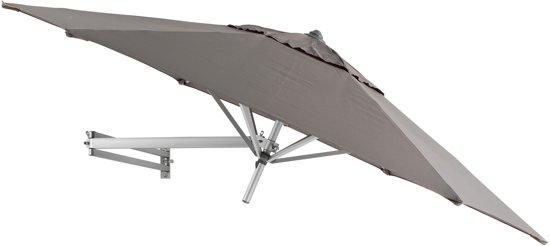 Easysol Parasol - muurparasol - Ø250 cm - taupe