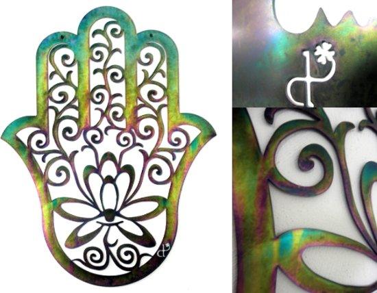 Betekenis Fatima Handje.Dit Pracht Wanddecoratie Groot Hamsa Hand Hand Of Fatima Gekleurd