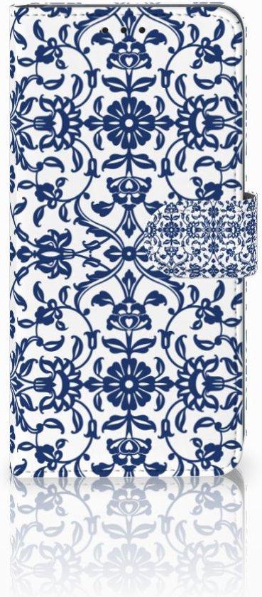 Huawei Mate 20 Lite Uniek Boekhoesje Flower Blue