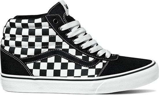 Vans Ward Hi Sneakers Heren - Maat 43 - (Checkerboard) Black/White
