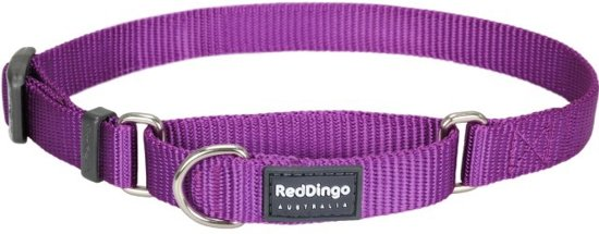 Red Dingo Martingale Correctie Halsband Hond 20mm 32-47cm MC-ZZ-PU-20