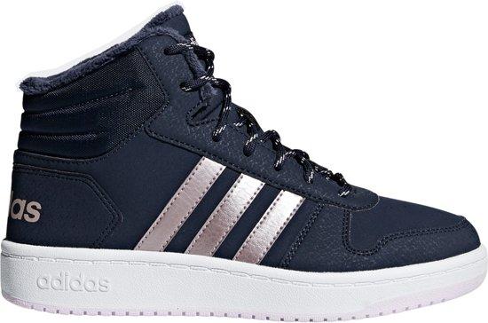 56d7ac2f576 bol.com | adidas Hoops Mid High 2.0 k Sneakers Meisjes - Legend Ink F1