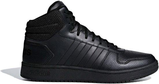 0 2 Zwarte Adidas Sneakers Hoops Hoge qOqwgBX