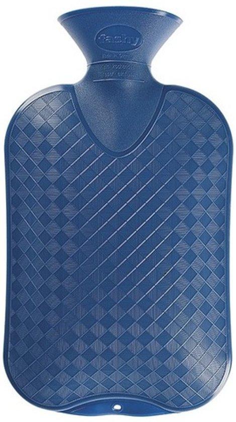 a6f9bd66f14 bol.com | Kruik blauw ruit/ribbel 2 liter - warmwaterkruik