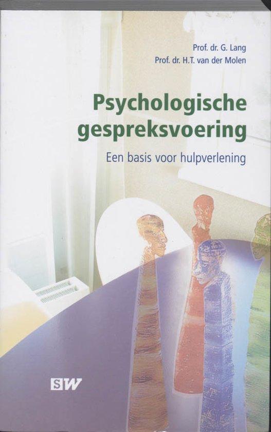Boek cover Psychologische Gespreksvoering van G. Lang (Paperback)