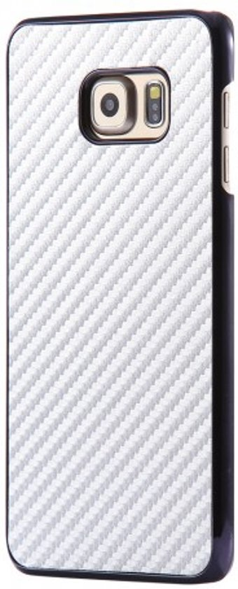 Look Carbone Blanc Couverture Étui Rigide Pour Bord De Samsung Galaxy S LwccPy