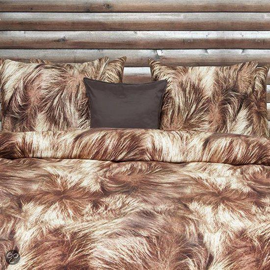 Refined Grizzly flanel dekbedovertrek - Bruin - Lits-jumeaux (240x200/220 cm + 2 slopen)
