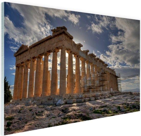 Parthenon van Athene Glas 60x40 cm - Foto print op Glas (Plexiglas wanddecoratie)