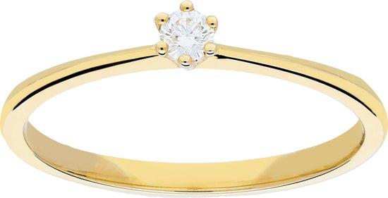 Glow - Gouden ring met steen