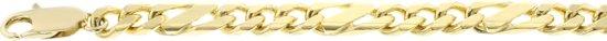 Modena gouden Fantasie schakelketting, 50 cm