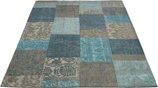Donkere Vintage Woonkamer : Bol.com vintage vloerkleed avalon 088 200x290 blauw bruin