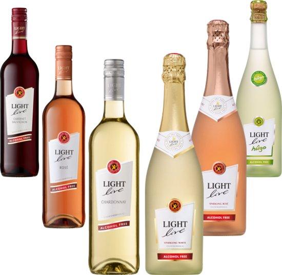 Light Live Alcoholvrije Wijn probeer Pakket van 6 flessen
