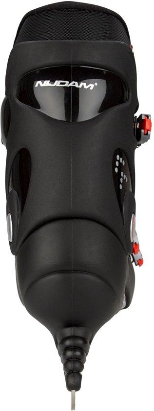 Nijdam 0089 IJshockeyschaats - Hardboot - Zwart/Rood - Maat 43
