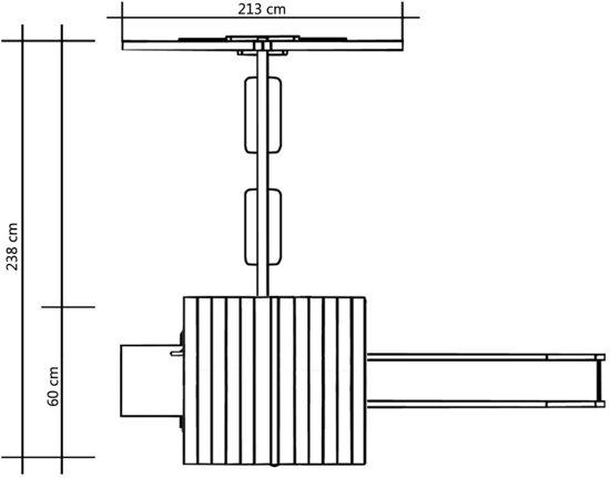 vidaXL Speelhuis glijbaan schommels 238x228x218 cm FSC grenenhout