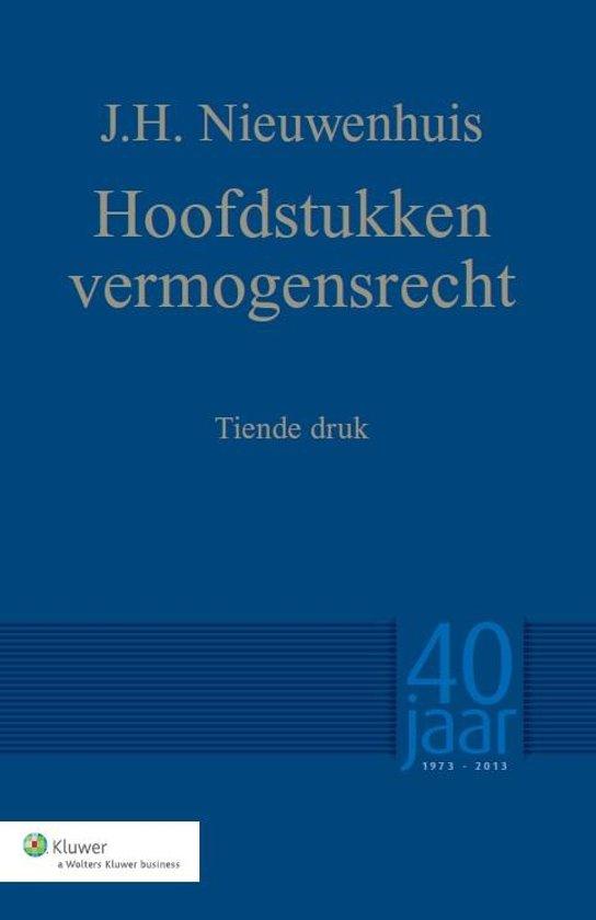 Boek cover Hoofdstukken vermogensrecht van J.H. Nieuwenhuis (Paperback)