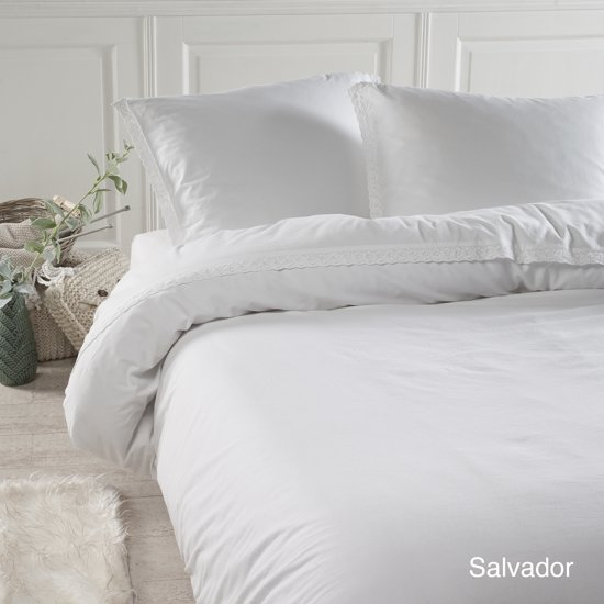 Papillon Salvador - dekbedovertrek - eenpersoons - 140 x 200/220 - Wit