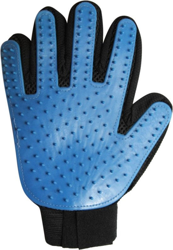 Verzorgingsborstel - Zwart/Blauw - 1 maat rechtshandig