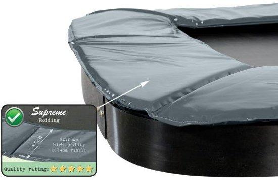 EXIT Supreme groundlevel trampoline 244x427cm - grijs