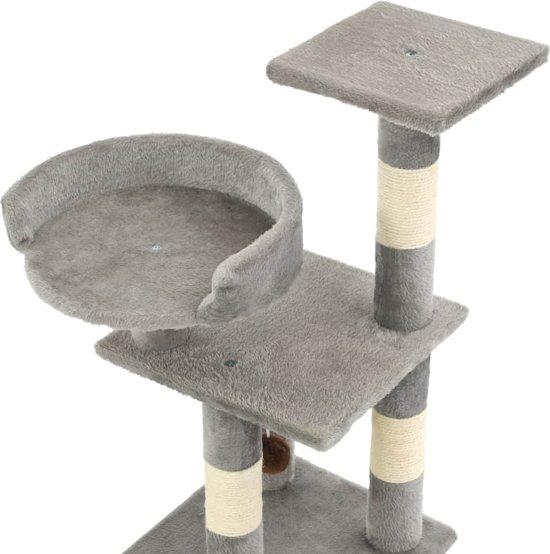 vidaXL Kattenkrabpaal met sisal krabpalen 65 cm grijs