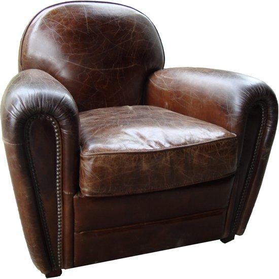 pomax club fauteuil 1zit leder vintage. Black Bedroom Furniture Sets. Home Design Ideas