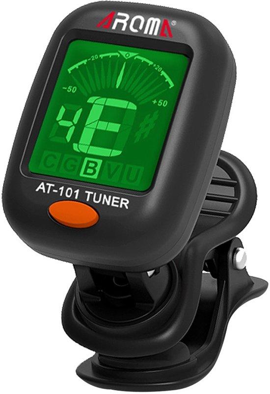 Clip-on tuner AT-101 voor Gitaar, Bas, Viool, Ukelele en Chromatisch