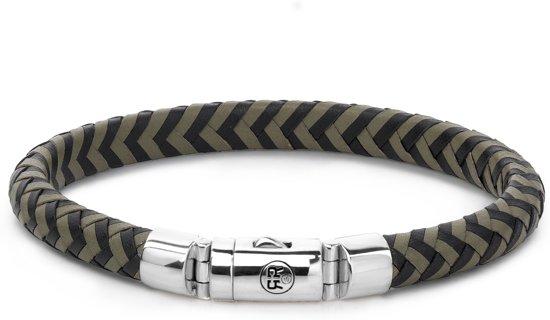 Rebel&Rose armband - Half Round Braided Black-Olive
