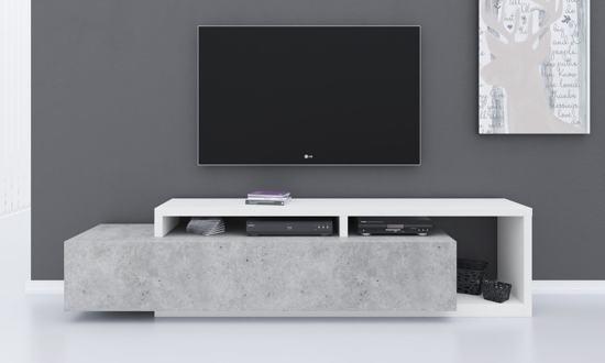 Meubella Tv Meubel Bello Beton Wit 219 Cm