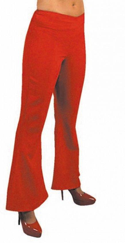 Dames hippie broek rood 38 (m)