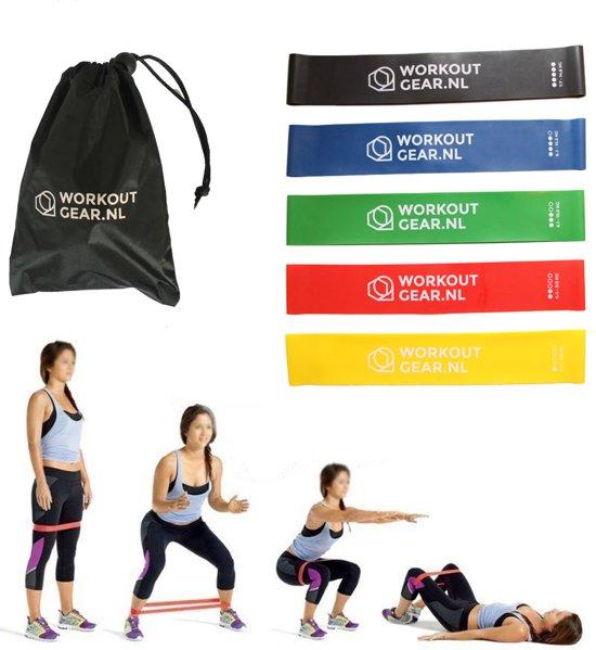 PREMIUM Resistance Banden Set | WorkoutGear | Fitness Banden Fitness Elastiek Weerstandsbanden Mini Powerbands - inclusief Gratis handleiding!
