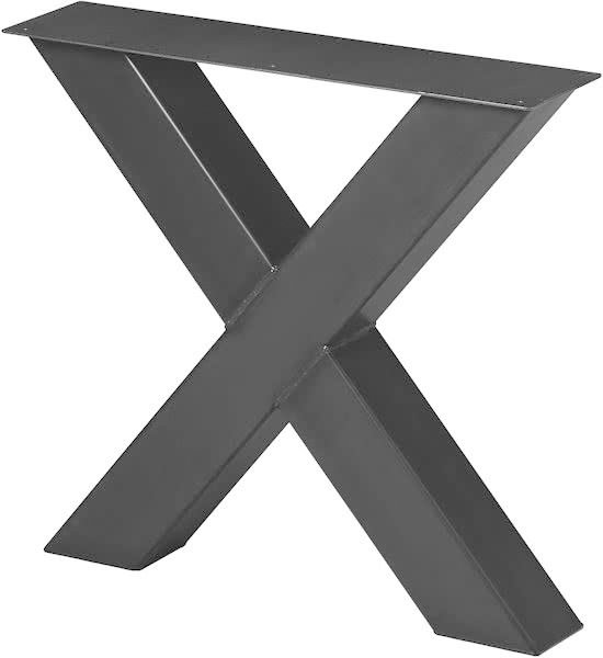 Zeer bol.com | Stalen X Poot | Mat Blank | Koker 100x100 | X-onderstel RL08