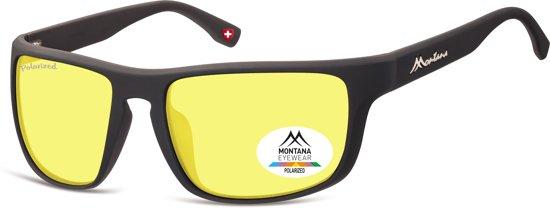 Montana SP314F - sport zonnebril - ronde vorm - zwart rubbertouch