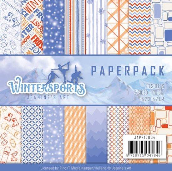 Papierpak - Jeanine's Art - Wintersports