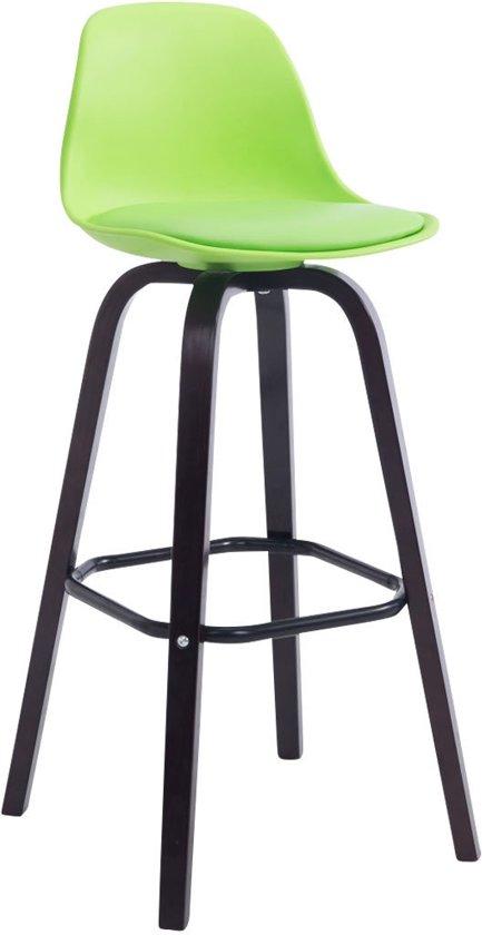 Clp AVIKA - barkruk - kunstleer - groen, - onderstel cappucino