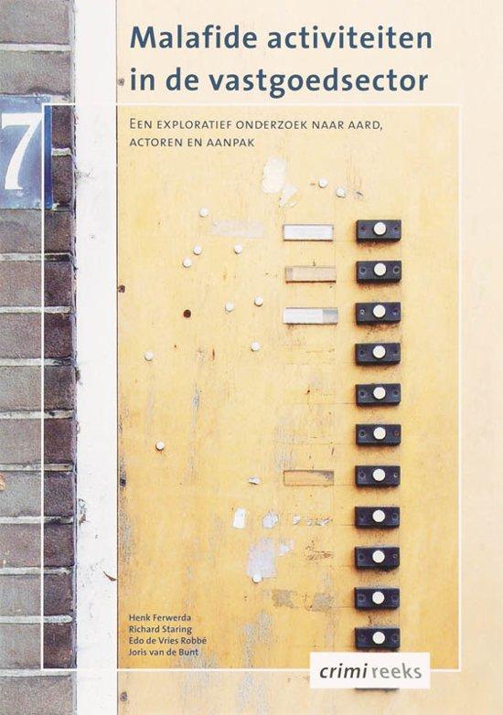 Cover van het boek 'Malafide activiteiten in de vastgoedsector / druk 1'