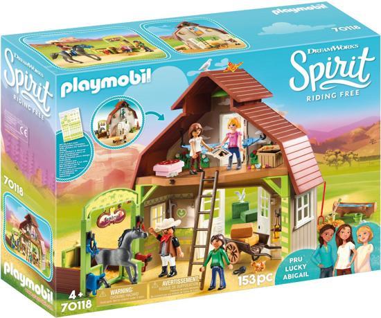 Afbeelding van PLAYMOBIL Schuur met Lucky, Pru en Abigail - 70118 speelgoed