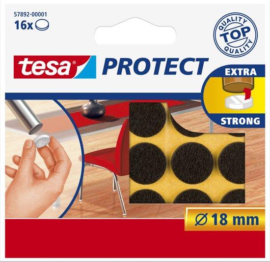 Tesa - 57892 - beschermvilt - bruin - rond - ø 18mm