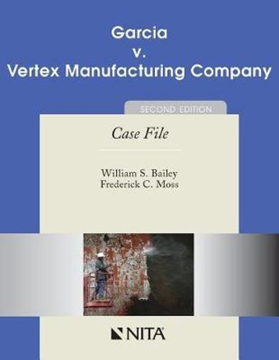 Garcia V. Vertex Manufacturing Company