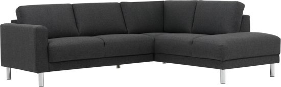 HH Furniture - Hoekbank - Sofa - Couch - Open eind - Rechts - Links - Antraciet