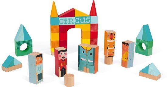 Janod Kubix Circus Blokkenset 60-delig