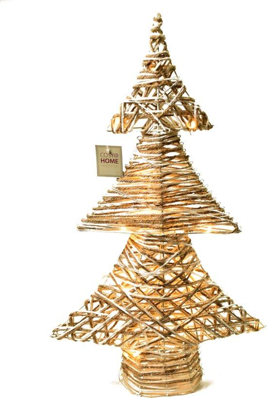 Moderne kerstboom met verlichting - 60 x 37 cm (excl 3x AA batterij) Valentinaa