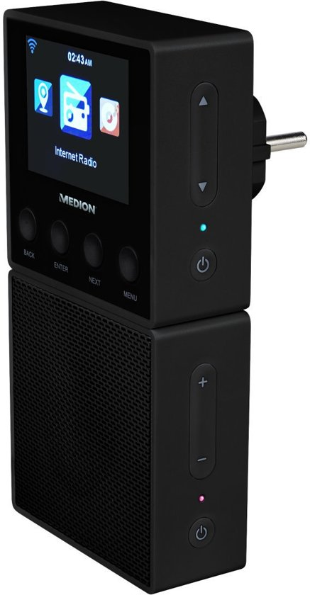 MEDION® LIFE E85032 Stekker Internet Radio & Bluetooth Speaker (zwart)