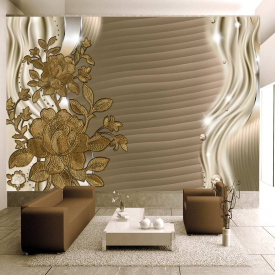 Fotobehang - Gouden bloemknoppen